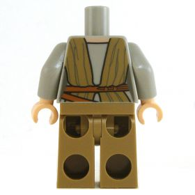 LEGO Light Bluish Gray Shirt with Dark Tan Wrap and Pants