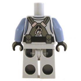 LEGO Gray Outfit with Sand Blue Jacket, Belt, Straps, Pouches