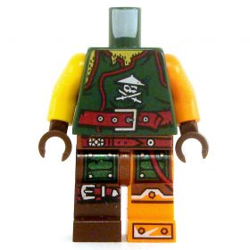 LEGO Green Shirt and Brown Pants, Armored Arm and Leg