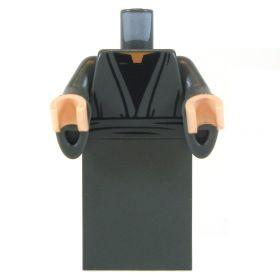 LEGO Gray Robe/Dress with Black Shirt, Flared Sleeves