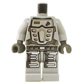 LEGO Gray Outfit with Silver Armor Plate