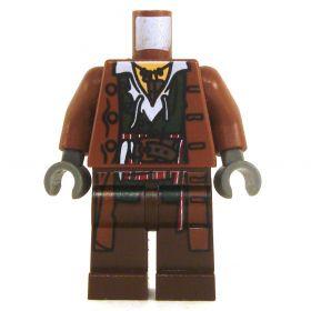 LEGO Reddish Brown Overcoat with White Shirt and Dark Green Vest