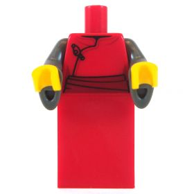 LEGO Red Robe/Dress with Dark Bluish Gray Flared Sleeves