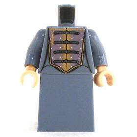 LEGO Sand Blue Dress with Purple and Gold Chest