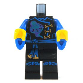 LEGO Black Outfit with Blue Flared Sleeves