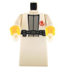 LEGO White Robe with Flared Sleeves, Gray Undershirt, Belt