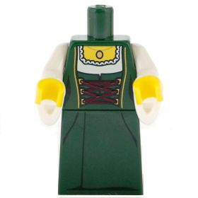 LEGO Green Dress (Dirndl) with White Flared Sleeves