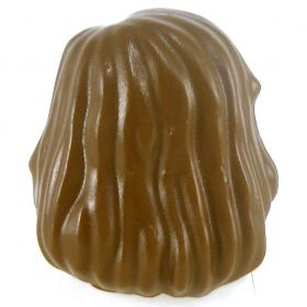 LEGO Hair, Side Part, Mid-Length, Brown