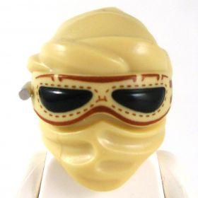 LEGO Tan Hood/Mask with Black Goggles