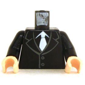 LEGO Torso, Black Suit and White Tie