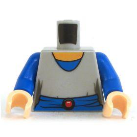LEGO Torso, Blue Shirt with Gray Top