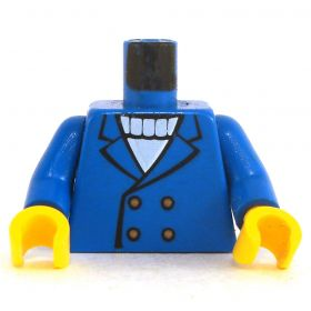 LEGO Torso, Blue Jacket over White Sweater