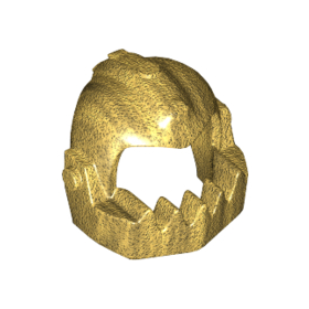 LEGO Helmet, Gold with Jagged Lower Jaw