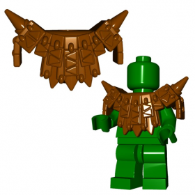 "LEGO ""Lizardman"" Leather Spiked Armor by Brick Warriors  (w/Wing Clips and Tail Stud)"