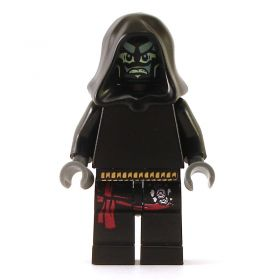 LEGO Drow Mage, black with red sash