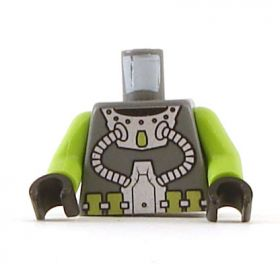 LEGO Torso with Lime arms and Hoses Pattern