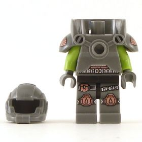 LEGO Armored Torso with Lime Green Arms, Armored Legs, Should Armor and Helmet WARFORGED
