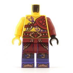 LEGO Bare Chest, Purple Snake Tattoo, Shoulder Armor