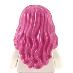 LEGO Hair, Female, Long and Wavy, Center Part, Magenta