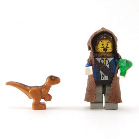 LEGO Velociraptor (Swarm Drake), orange/brown
