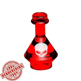LEGO Red Glass Flask by BrickForge (Affliction)