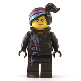 LEGO Female, Complete Black Outfit including Head and Hair