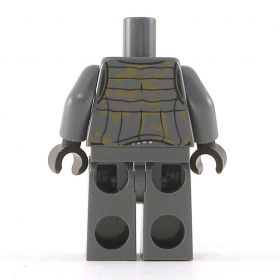 LEGO Dark Gray Pants, Shirt, and Vest with Mail underneath