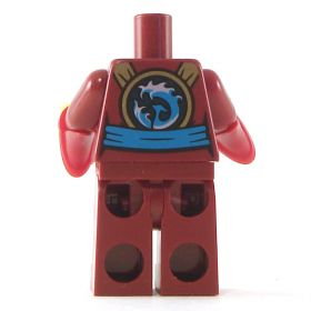 LEGO Dark Red Female Outfit with Blue Belt and Wizard Sleeves