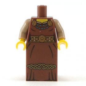 LEGO Reddish Brown Dress with Celtic Knotwork