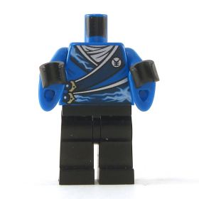 LEGO Blue Outfit with Energy Pattern and Wizard Sleeves