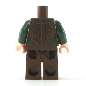 LEGO Green Shirt with Brown Vest and Pants, Female