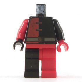 LEGO Black and Red Shirt and Pants, Alternating Sides