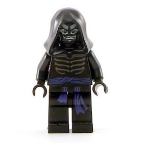 LEGO Drow Mage, skeletal pattern with purple sash
