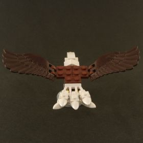 LEGO Eagle, Giant, Bald (custom design, 100% LEGO)