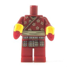 LEGO Samurai Torso and Legs with Wizard Sleeves