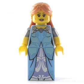 LEGO Female Elf (Half Elf), Blue Dress with Silver Sleeves (complete)