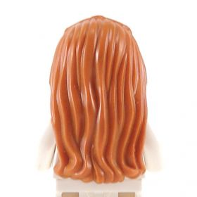 LEGO Hair, Female, Long and Braided in Front, Dark Orange