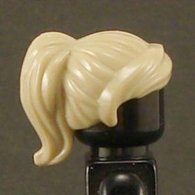LEGO Hair, Female, Ponytail with Swept Fringe, Tan