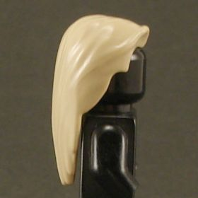 LEGO Hair, Male, Long and Straight with Center Part, Tan