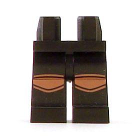 LEGO Legs, Black with Reddish Brown Knee Pads