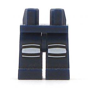 LEGO Legs, Dark Blue with White Knee Pads
