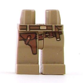 LEGO Legs, Dark Tan with Belt and Holster