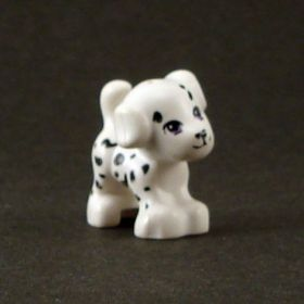 Dog, Puppy, White with Black Spots