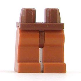 LEGO Legs, Dark Orange with Reddish Brown Hips