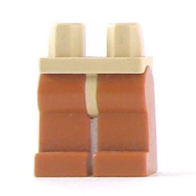LEGO Legs, Dark Orange with Tan Hips