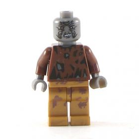 LEGO Zombie (or Cadaver), torn outfit, scratched face