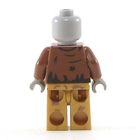 LEGO Zombie (or Cadaver), torn outfit, bared teeth