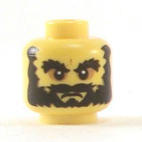 LEGO Head, Thick Bushy Beard and Eyebrows, Sunken Eyes