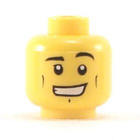 LEGO Head, Cheek Lines, Chin Dimple, Wide Grin