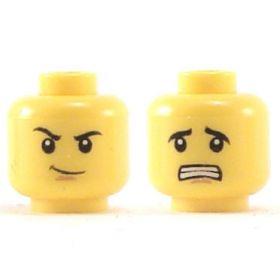 LEGO Head, Crooked Smile / Afraid